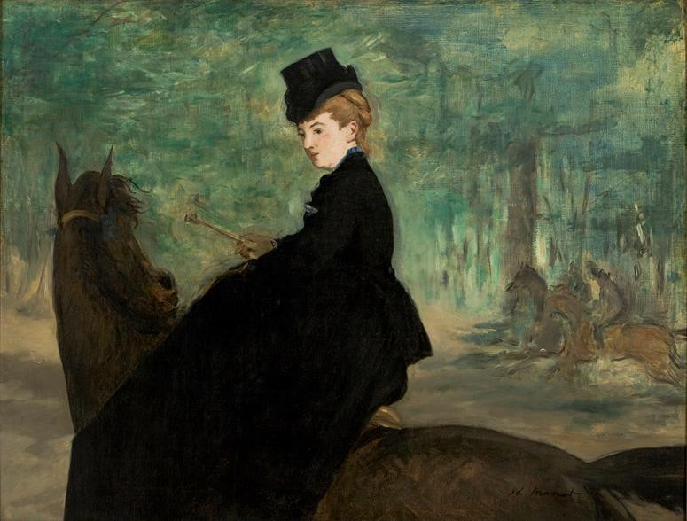 """The Horsewoman, Portrait of Marie Lefébure,"" 1875"
